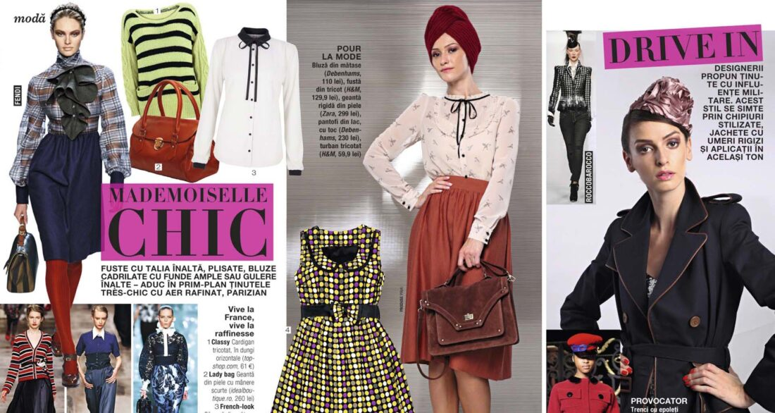 pagina de revista de moda