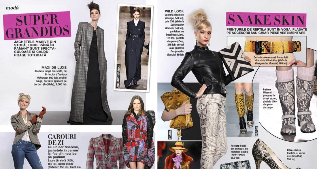 pagina de revista moda