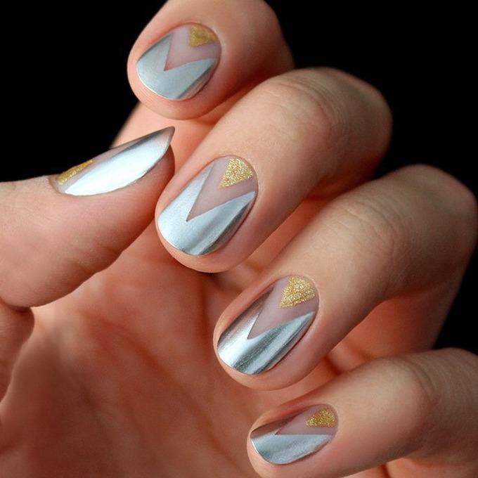 unghii metalice argintii